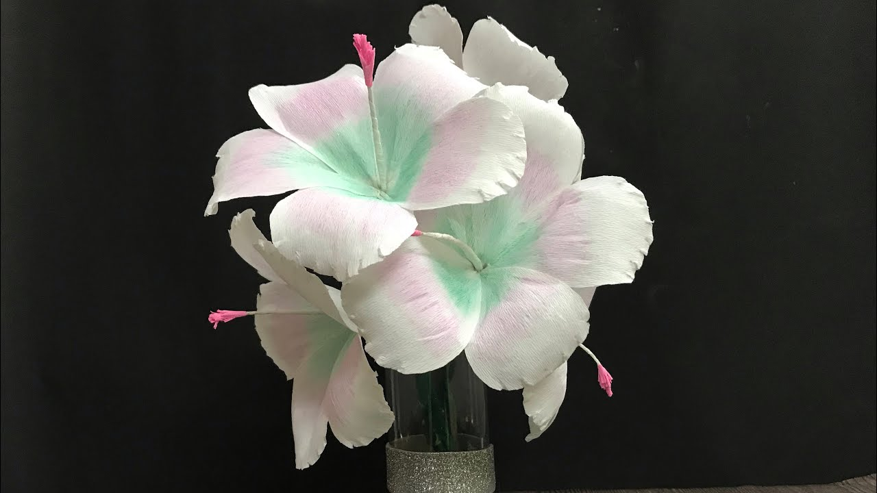 Paper Flower Wall Hanging How To Make Hibiscus Flower