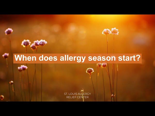 When Does Allergy Season Start?