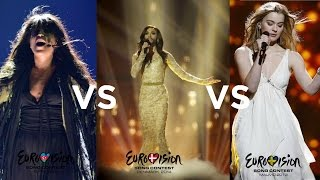 Eurovision 2012 vs 2013 vs 2014 - The Epic Battle (based on personal choices)