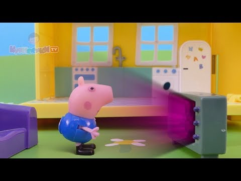 Свинка Пеппа и Джордж играют в видеоигру онлайн на русском Peppa Pig Мультик из игрушек - Серия 117