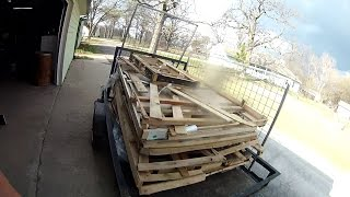 Salvaging Scrap Pallets For Building Material