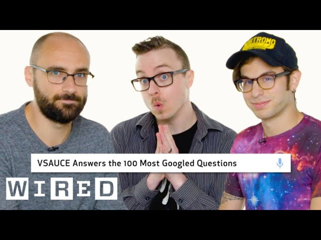 Vsauce Answers the 100 Most Googled Questions | WIRED #1