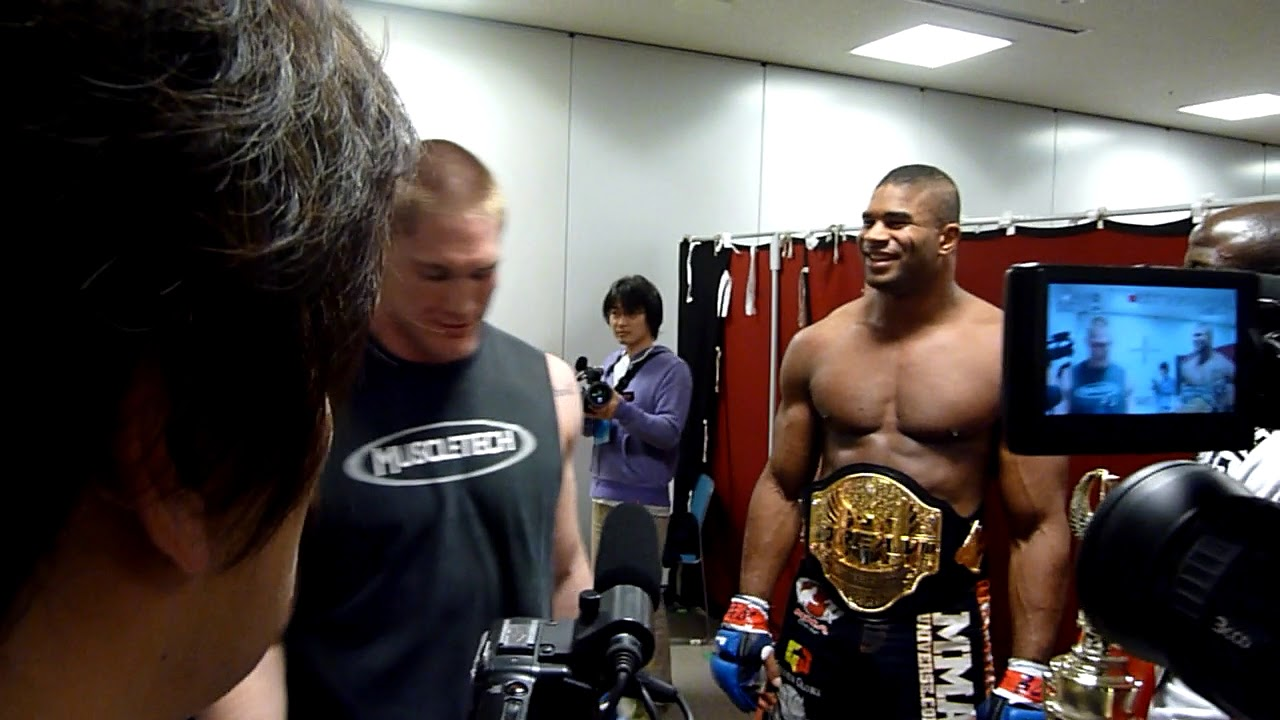 Alistair Overeem Talks With Todd Duffy After His Quick Ko
