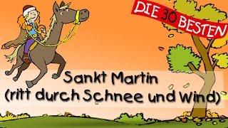 Sankt Martin (ritt durch Schnee und Wind) - Die besten Herbstlieder || Kinderlieder