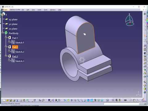 01 Catia Tutorial-1 (Solid Modeling tutorial -1)