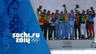 Nordic Combined - Team Large Hill/4x5km Relay - Norway Win Gold | Sochi 2014 Winter Olympics
