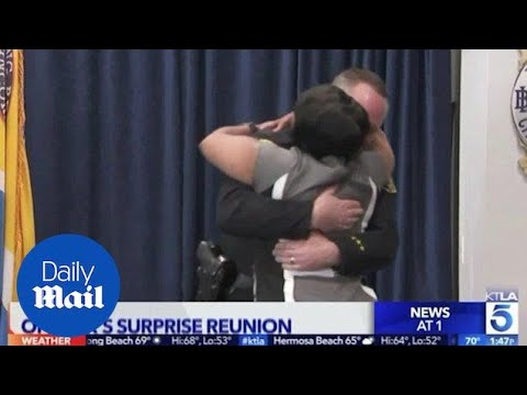 Former drug addict reunites with police officer who helped her - Daily Mail