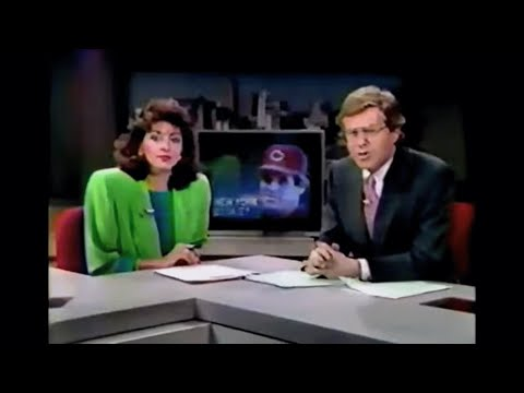 WLWT 1989 Pete Rose Baseball Gambling News Reports - Channel 5 Cincinnati Ohio 80s