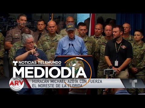 Imágenes de Panama City, FL durante el paso del huracán Michael   Noticiero   Telemundo