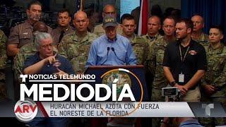 Imágenes de Panama City, FL durante el paso del huracán Michael | Noticiero | Telemundo