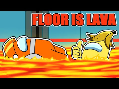 among us NEW FLOOR IS LAVA GAMEMODE (mods)