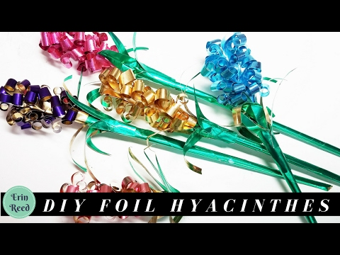 DIY Foil Hyacinth Flowers