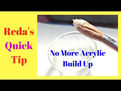 How  to Keep Your Acrylic Brush Clean All the Time -No Acetone