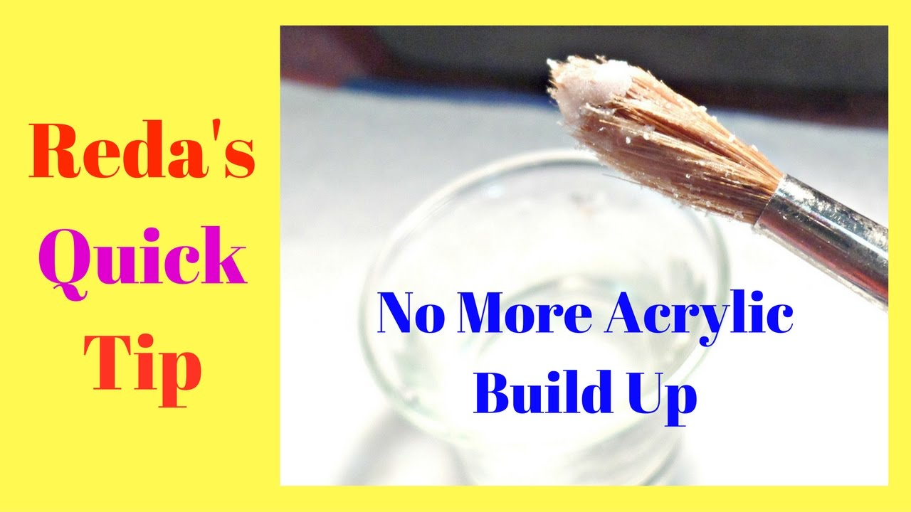 How To Keep Your Acrylic Brush Clean All The Time No Acetone Youtube