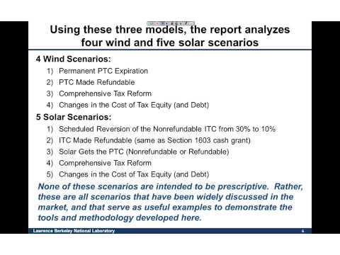 Analysis of Different Approaches to Capturing the Value of Renewable Energy Tax Incentives