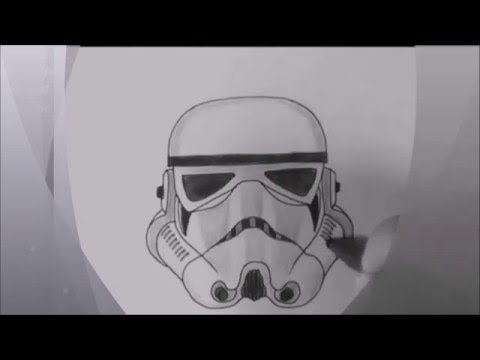 how to draw star wars character Stormtrooper speed drawing YouTube