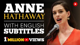 ENGLISH SPEECH | ANNE HATHAWAY: Paid Family Leave (English Subtitles)