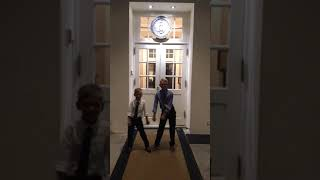 Flossing at the West Wing of the White House