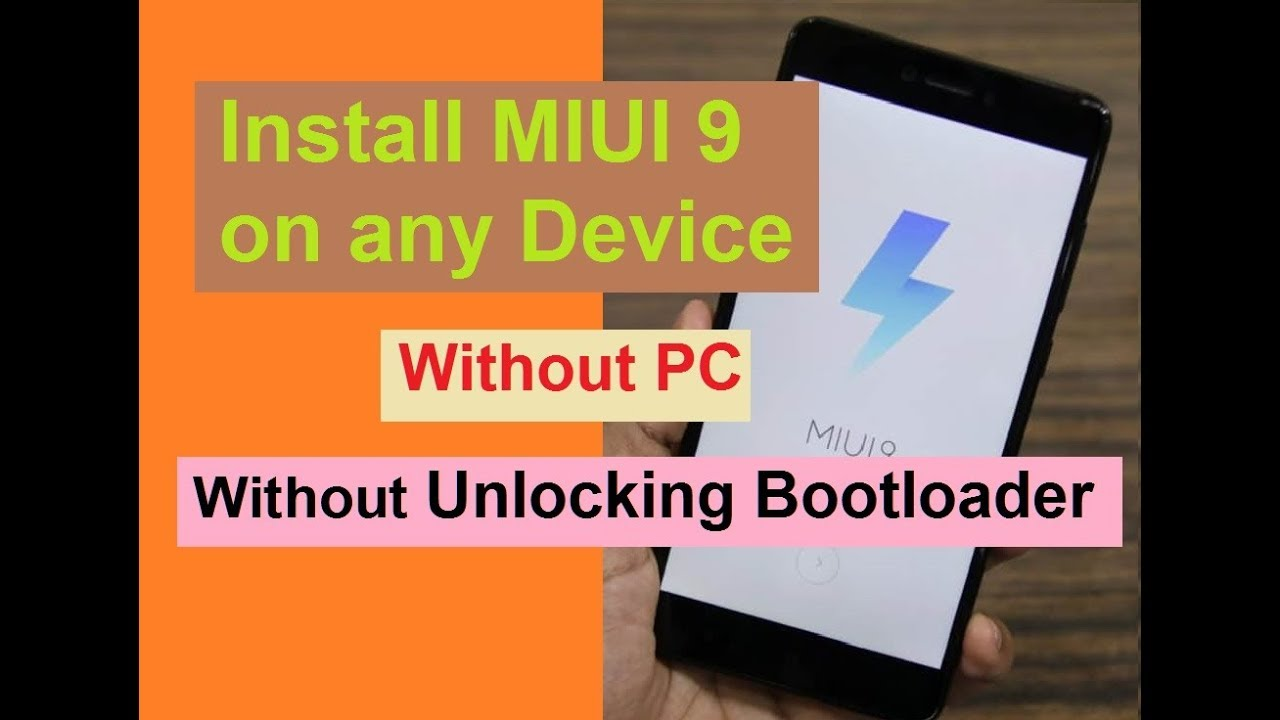 Install/update MIUI 9 Without PC and Bootloader unlocked || For all Xiaomi  Devices