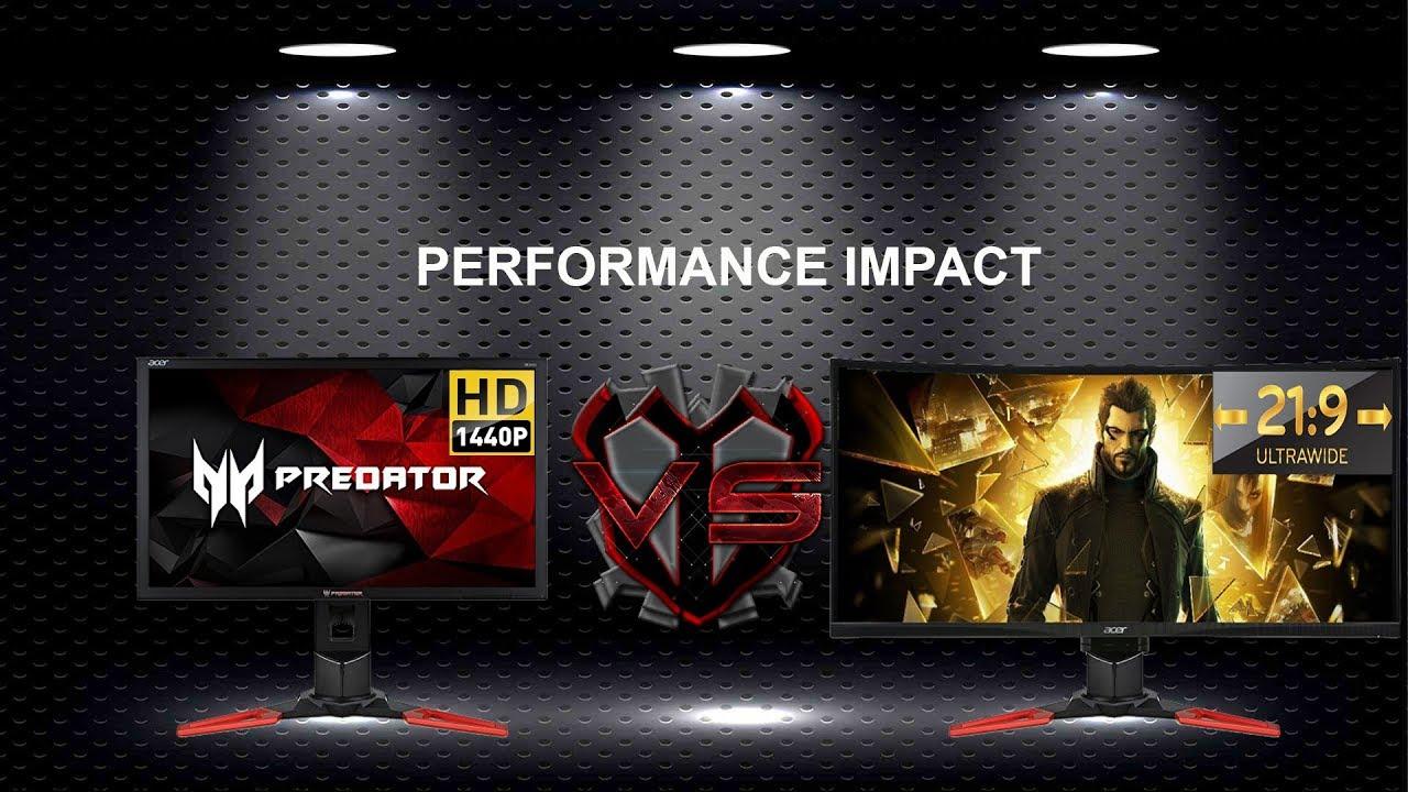 2560x1440 Vs 3440x1440 Gaming Performance Impact
