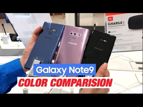 Samsung Galaxy Note 9 Color Comparison