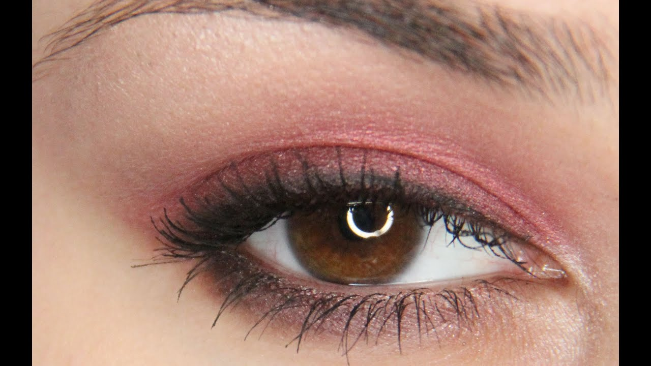 Simple And Fast Red Smokey Eye Tutorial Youtube