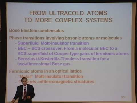 Oppenheimer Lecture: Quantum Degenerate Gases Achievements and Perspectives