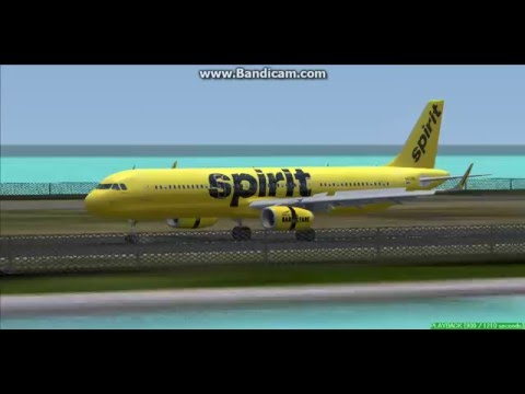Spirit Airlines 321 Cyril E  King Airport TIST Saint Thomas Landing FS9