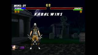 Mortal Kombat Trilogy-KABAL Fatality 2 (takes the mask off)