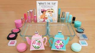 pink-vs-teal-mixing-makeup-eyeshadow-into-slime-asmr-287-satisfying-slime-video