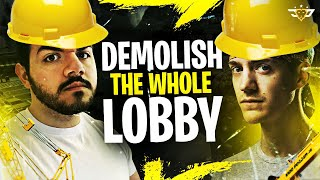 COURAGE & NINJA DEMOLISH AN ENTIRE LOBBY - 30+ ELIMS! (Fortnite: Battle Royale)