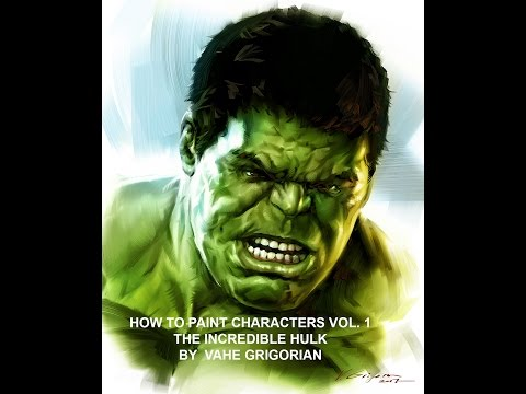 How to Paint Digital Character / Incredible Hulk
