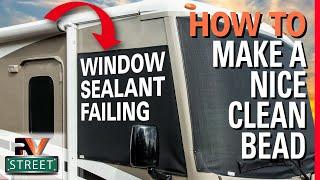 RV Window Sealant to FIX LEAKS NOW. Easy DIY