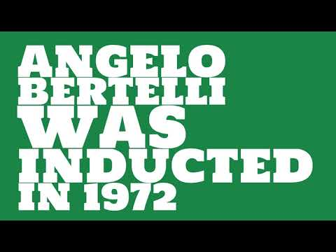 When was Angelo Bertelli inducted into the College Football Hall of Fame?