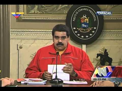 Presidente Maduro desde el Puesto de Comando Presidencial, 16 noviembre 2015