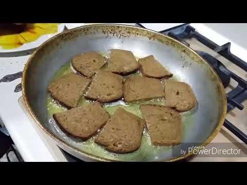 Как приготовить чесночные гренки из черного хлеба на сковороде