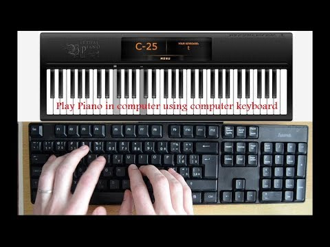 Play Piano In Computer Using Computer Keyboard