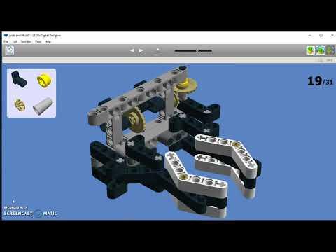 EV3 - grab and lift mechanism (LDD Manual)
