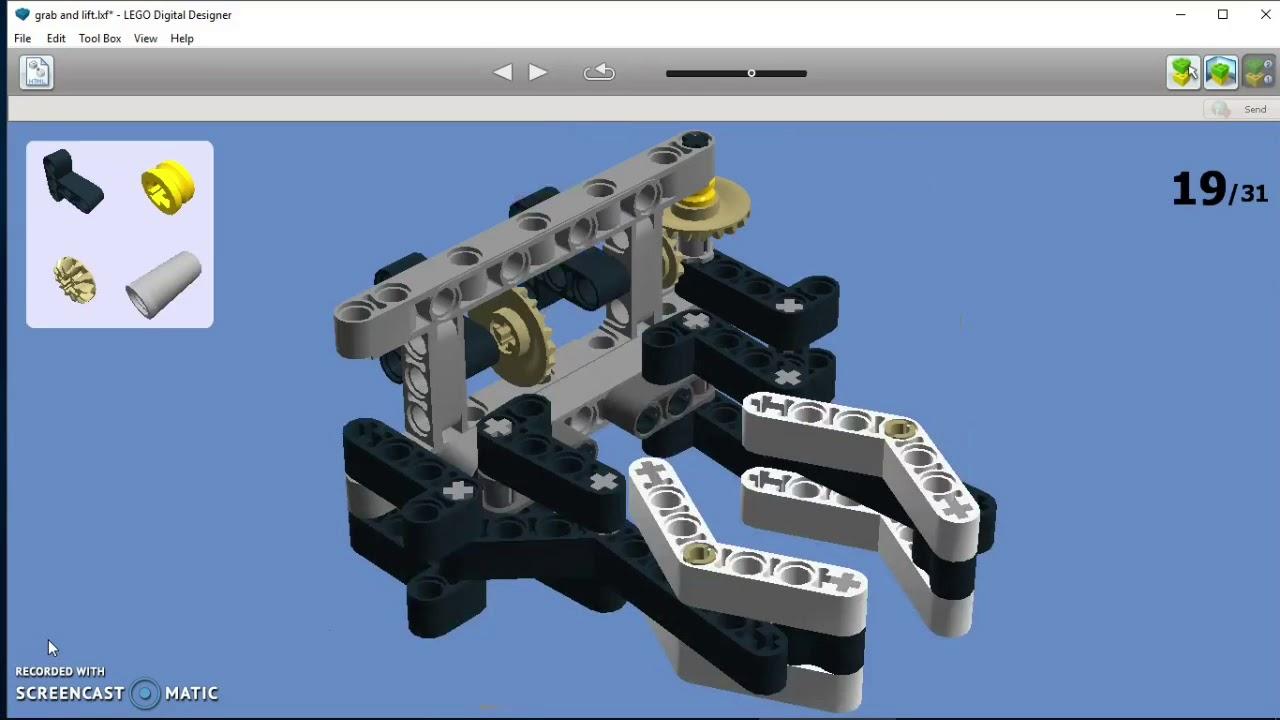 Ev3 Grab And Lift Mechanism Ldd Manual Youtube
