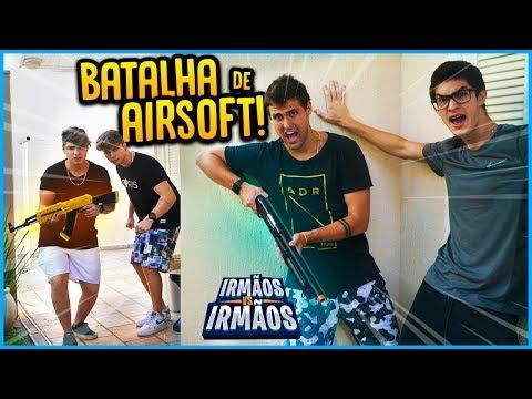 IRMÃOS REZENDE VS IRMÃOS BERTI: BATALHA DE AIRSOFT ACONTECEU ALGO!! [ REZENDE EVIL ]