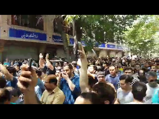 TEHRAN: Protesters chanting: our enemy is right here, but they falsely claim (our enemy) is the U.S.