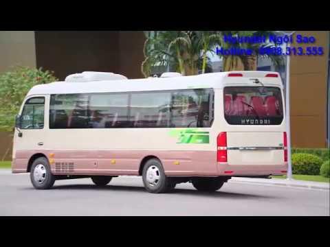 Xe Khách Hyundai New County Euro 4 - Sản Phẩm Xe Bus 29 Chỗ Mới Nhất Từ Hyundai Thành Công