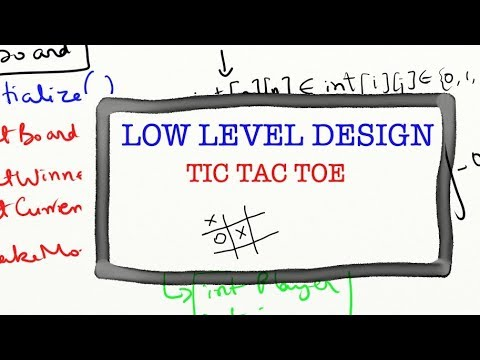 Design Tic Tac Toe Low Level Design Coding Interview Question Youtube