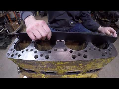 Caterpillar D2 #5J1113 - Engine Block Prep: Deck Inspection, Cleaning Threads, Checking Surfaces