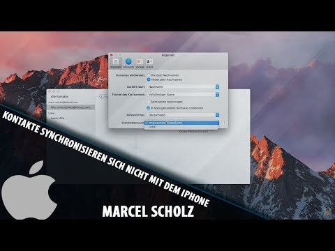 Contacts do not synchronize with iPhone (iCloud) | macOS Tutorials | Marcel Scholz