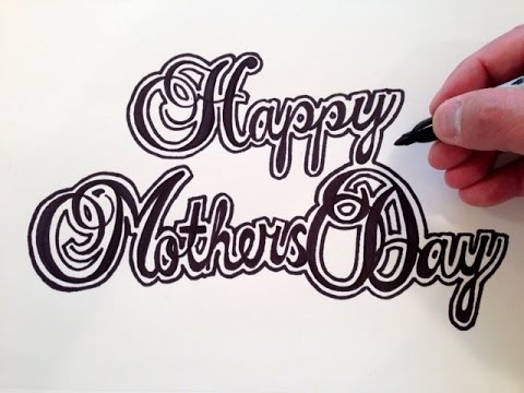 How to draw happy mothers day youtube