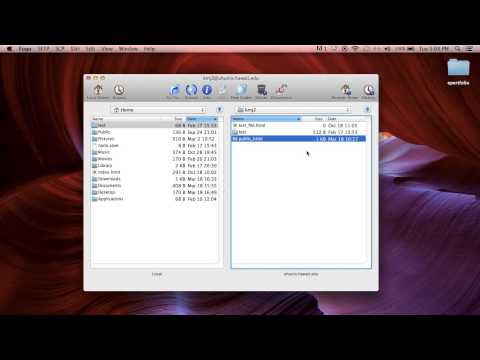 Session 2: How To Transfer HTML Website Files To Your UHM Server Space (MAC/FUGU Or PC/SSH)