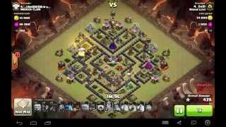 Clash of Clans | GoHog TH9 | Clan Wars 3 Star - V Moat Base
