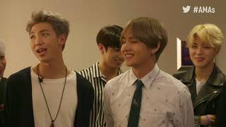 BTS Rehearsal Interview - AMAs Red Carpet 2017