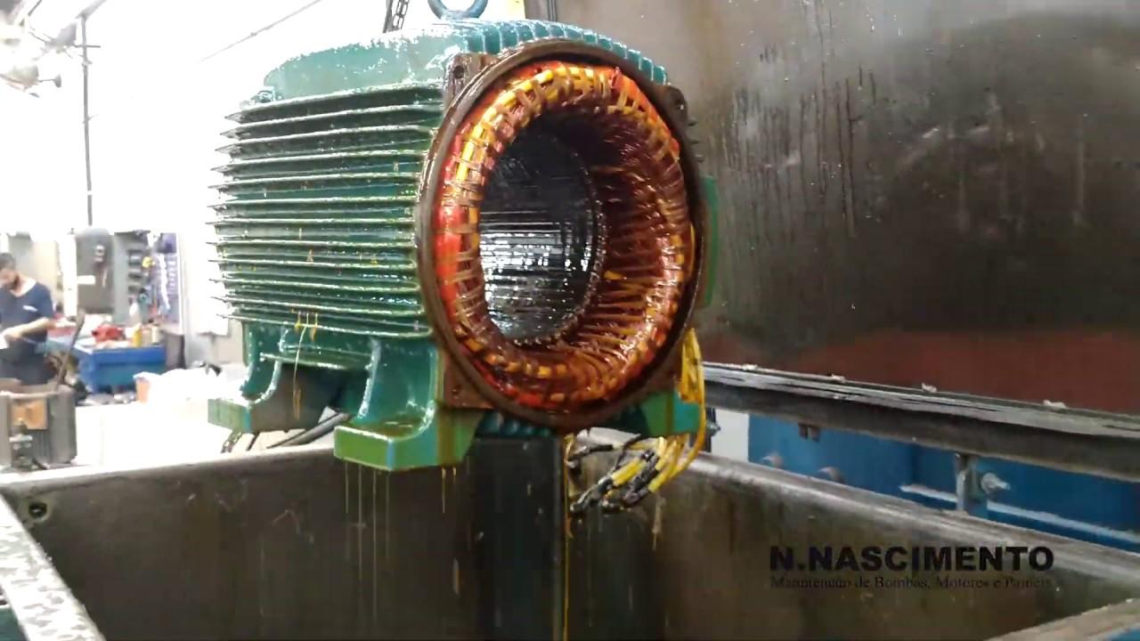 Impregnação de motor a vácuo